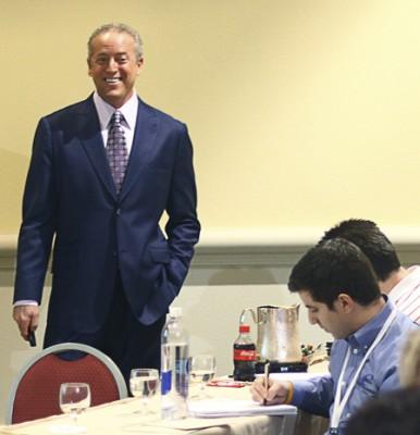 Photo: Chuck Bauer - Smiling At A Seminar