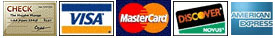 Payments Available with Check or Accepted Credit Card: Mastercard, Visa, Discover, American Express
