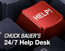Button: Chuck Bauer's 24/7 Help Desk
