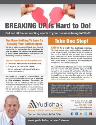 Sales Tactic Example: Breaking Up is Hard to Do - Damon Yudichak