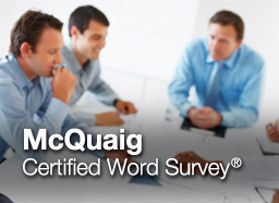 Button: McQuaig Word Survey