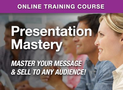 Online Learning Center - PresentationMastery - Master Your Message & Sell to Any Audience