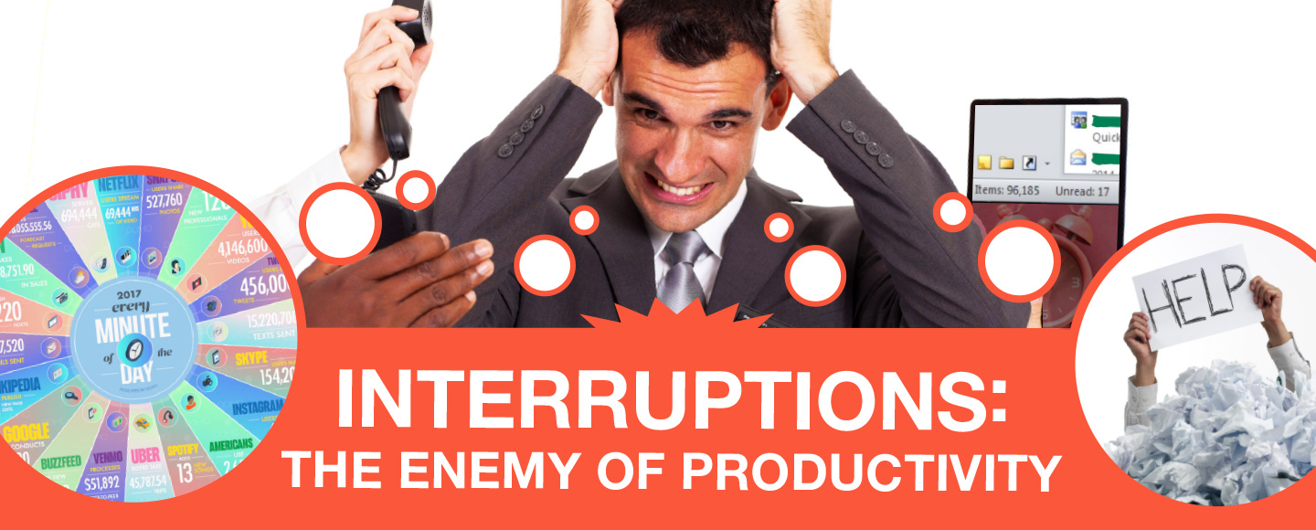 Interruptions are the enemy of productivity!